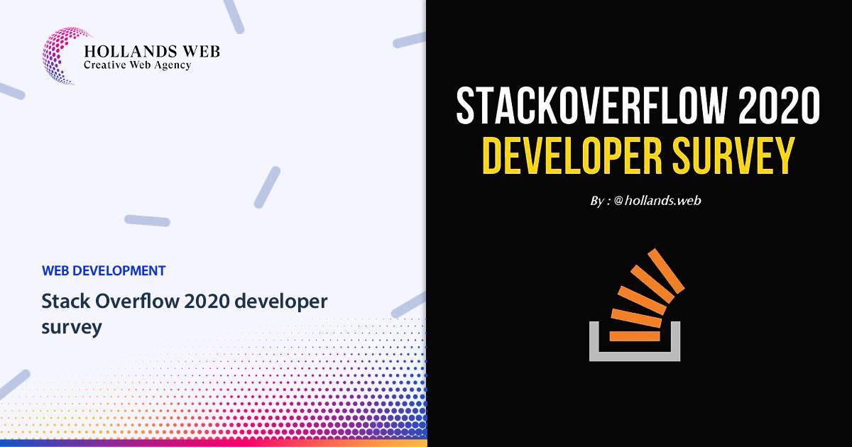 Stack Overflow 2020 developer survey