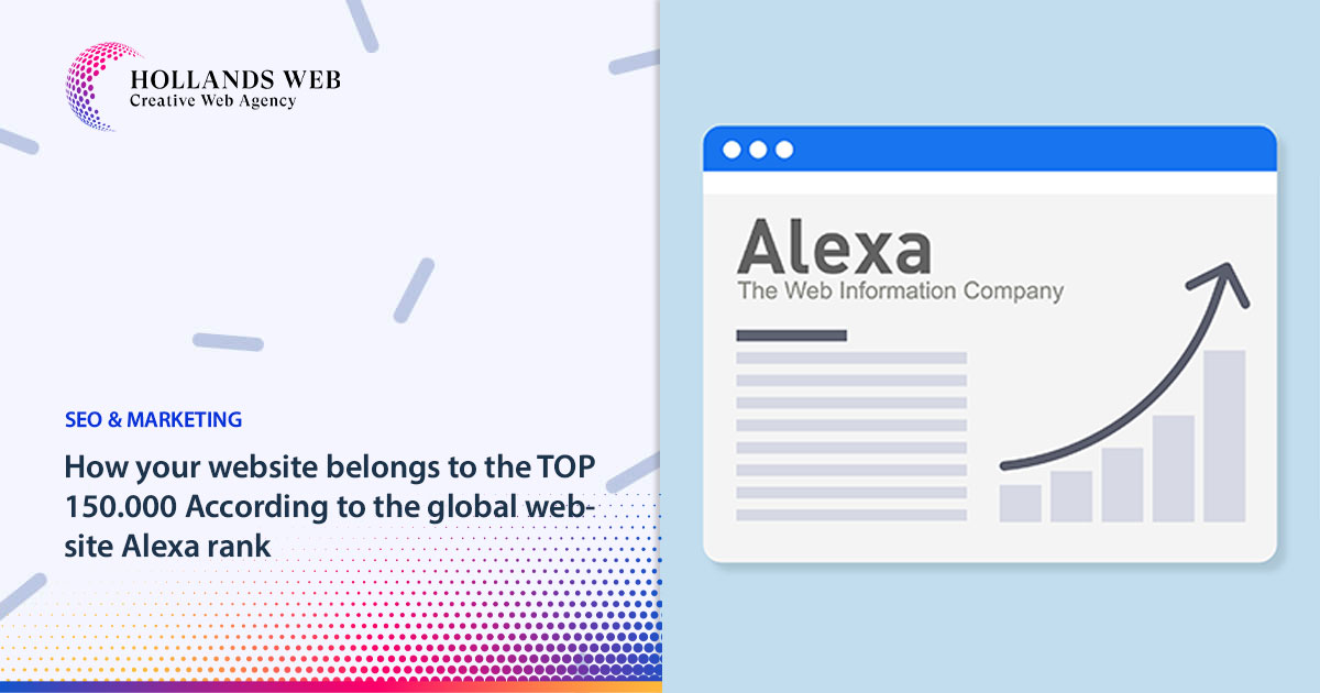 How your website belongs to the TOP 150.000 According to the global website Alexa rank